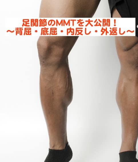 【MMT】下肢筋力の評価ポイントとは?! 足関節背屈、底屈、内がえし、外がえしを大公開!